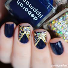 manicure azul marino para probar en casa nail design pinterest