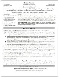 Executive Summary For Resume Sample by Sample Resume For Executive Mba