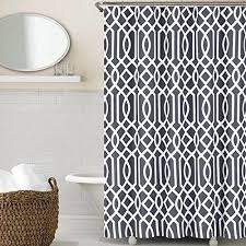 Charcoal Shower Curtain Charcoal Grey White Geometric Pattern Shower Curtain Cotton