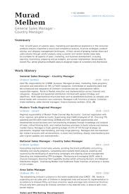 Sample Resume General by General Sales Manager Resume Samples Visualcv Resume Samples