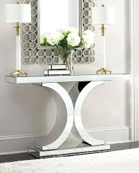 Mirror And Table For Foyer Foyer Console Table Mirrored Console Kulfoldimunka Club
