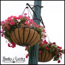 flower baskets hanging basket brackets outdoor hanging flower baskets l post