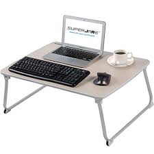 Laptop Desks For Bed Superjare Large Bed Table For Laptop Drawing