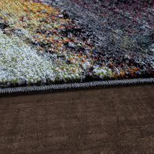 Wohnzimmer Gelb Blau Moderner Teppich Wohnzimmer Asphalt Design Hochwertig Meliert In
