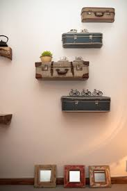 themed shelves suitcases as shelves for my travel themed room diy