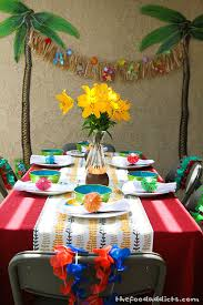 Luau Party Table Decorations Table Centerpiece For Luau Home Ideas 2016