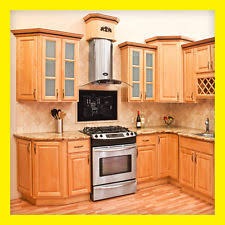 Kitchens With Maple Cabinets Wood Kitchen Cabinets Ebay