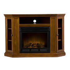 boston loft furnishings 48 in w mahogany wood electric fireplace