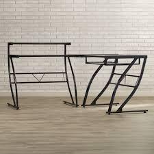 Black Glass L Shaped Computer Desk by Z Line Belaire Glass L Shaped Computer Desk Best Home Furniture