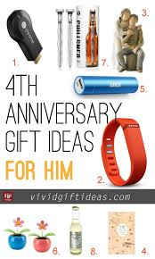 wedding anniversary gift ideas for him 4th wedding anniversary gift ideas s