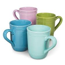 camille solid coffee mug set 4 pc multicolored target