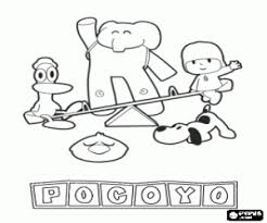 pocoyo coloring pages printable games 2