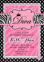 diva glamour birthday party invitation diva spa birthday