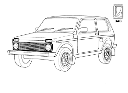 coloring page vaz russia