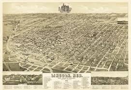 Home Decor Lincoln Ne by Vintage Map Lincoln Nebraska 1889