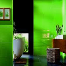 sharp green bathroom with dark tiles floor trend decoration