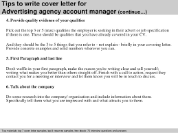 awesome collection of sample cover letter for advertising account