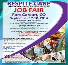 Respite Care Worker Resume Ft Carson Job Fair