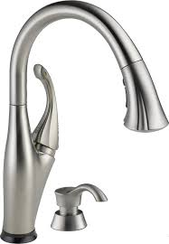 delta faucet 9192t sssd dst addison single handle pull down delta faucet 9192t sssd dst addison single handle pull down kitchen faucet with touch2o technology and soap dispenser stainless touch on kitchen sink