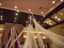draped ceiling our forever familee doing a tulle draped ceiling at the