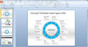 free timeline powerpoint template download free circular timeline