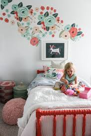 best 25 white wall stickers ideas on pinterest grey wall urban walls decals in a big girl room that has fresh white walls and bedding and the perfect pops of coral peach and teal