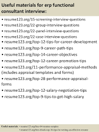 Sample Objectives In Resume by Top 8 Erp Functional Consultant Resume Samples