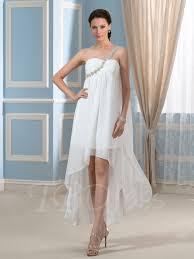 one shoulder wedding dress asymmetry hi lo beaded one shoulder wedding dress