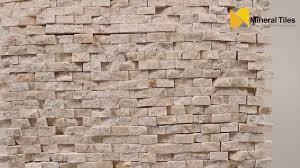 Mini Split Face Stone Tile Crema Marfil SAPSSSCM YouTube - Backsplash stone tile