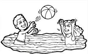 volleyball swimming pool coloring volleyball