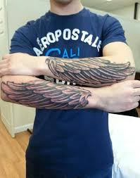 wing tattoos forearm creativefan
