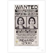 tina goldstein wanted poster minalima store 1920 u0027s fantastic