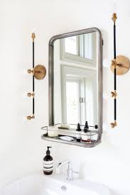 vintage bathroom mirror with shelf uk best bathroom decoration