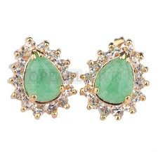 earrings malaysia topearl jewelry 5pairs teardrop green malaysia jade jewelry concise