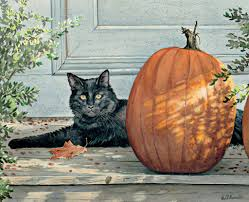 black cat halloween wallpaper full hd wallpaper kitten amusing muzzle green eyes cat art