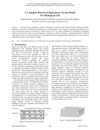 a complete electrical equivalent circuit model for biological cell