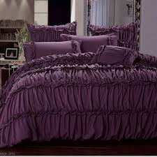 graceful purple bed linen sets cool designs bed linens