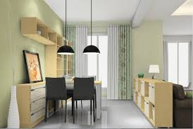 3d design pendant lights and partition cabinet dining room 3d house