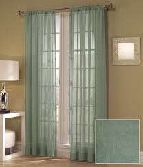 Green Sheer Curtains Enchanting Blue Green Sheer Curtains Designs With Set Of Two