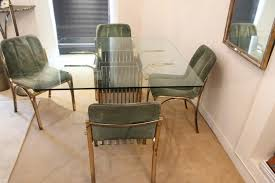 Glass Dining Table 4 Chairs Italian Glass Dining Table With Four Chairs 1970 For Sale At Pamono