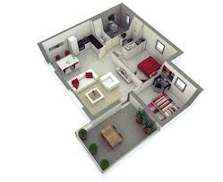 2 Bedroom Design D Floor Plan Home Inspirations Simple House Designs 2 Bedrooms 3d