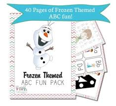 free printable frozen themed math u0026 abc pack kids frugal