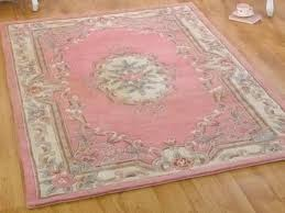 Pink Oriental Rug Pale Pink U0026 Cream Wool Persian Rug With Floral Border Pattern 60