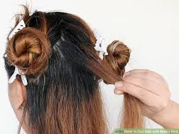 bun pins how to curl hair with bobby pins with pictures wikihow