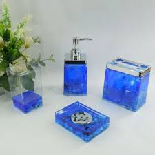 Navy Blue Bathroom by Bathroom Elegant Blue Glass Bathroom Accessories With Decorative
