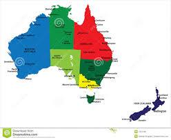Amado Austrália e Nova Zelândia ilustração do vetor. Ilustração de lagos  #CI44