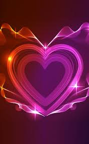 heart fly wallpapers neon hearts live wallpaper android apps on google play