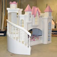 Childrens Bunk Bed With Slide Attractive Stair Decorated Castle Bunk Beds With Slide Plus
