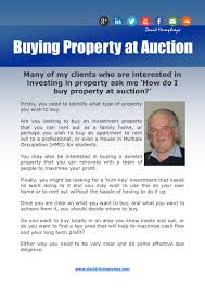 how to buy property at auction david humphreys