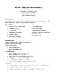 resume exle for receptionist resume exles assistant best and cv inspiration